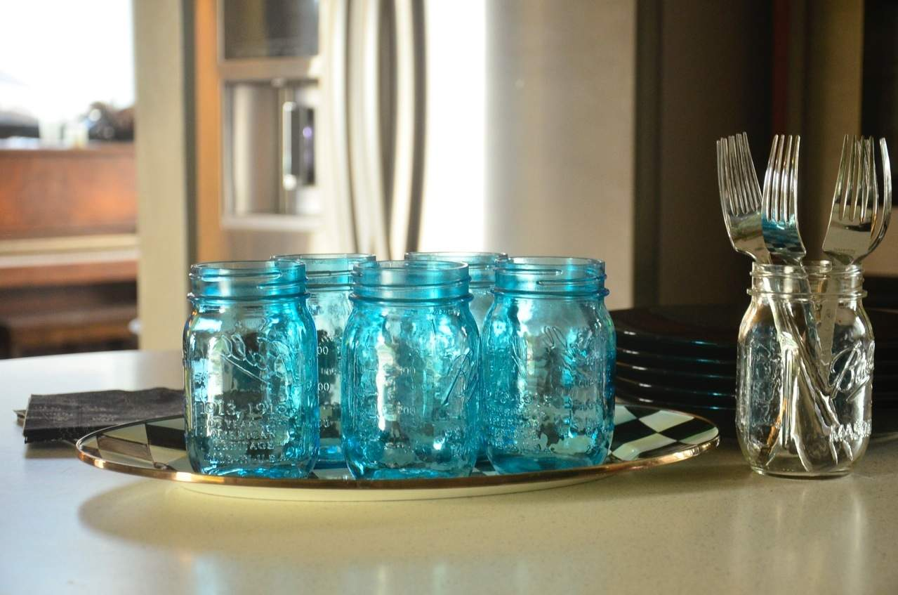 Blue Ball Jars | ReluctantEntertainer.com