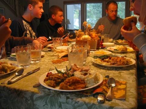 Eating Thanksgiving