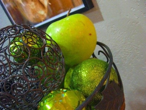 ornaments and fruit