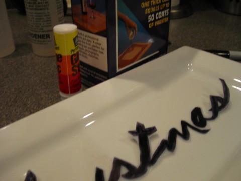 Stencil a Plate