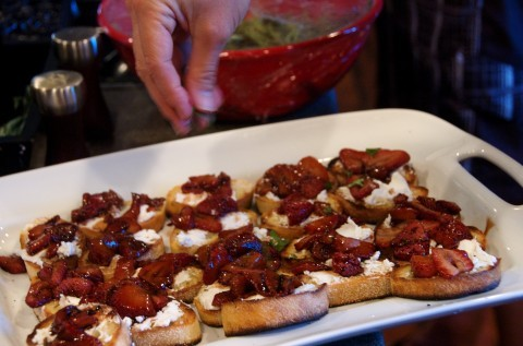 ... Dinner, and Roasted Strawberry Bruschetta! - Reluctant Entertainer