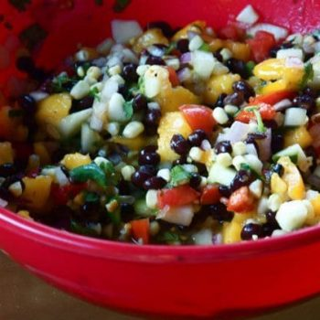 Bush's Beans Peach Pear Salsa