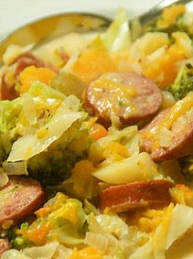 German Potato Butternut Sausage Soup