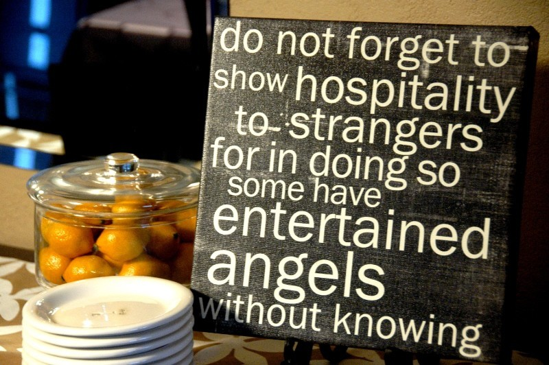 Entertaining Angels Red Letter Words The Hip Hostess