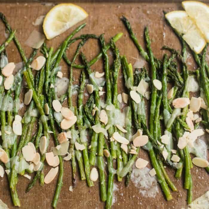 BEST Baked Asparagus Shaved Parmesan for Easter Brunch