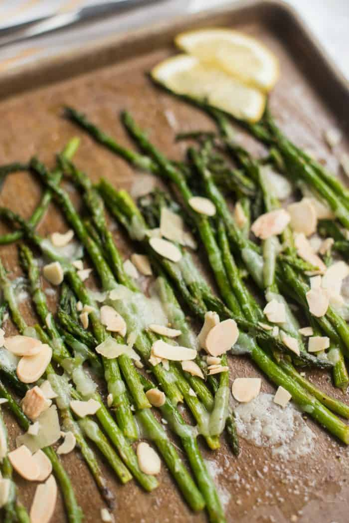 Baked Asparagus Shaved Parmesan for Easter Brunch