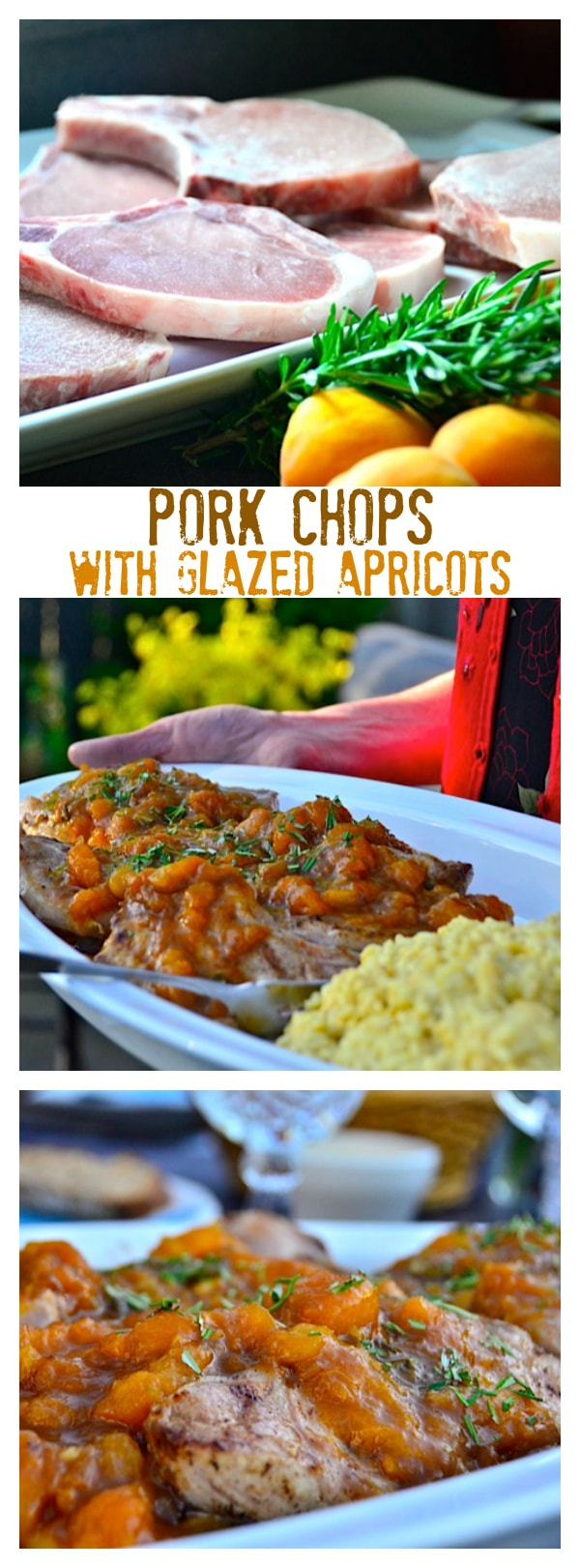Pork Chops with Glazed Apricots
