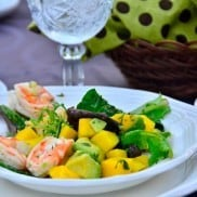 Shrimp, Mango, Avocado Salad