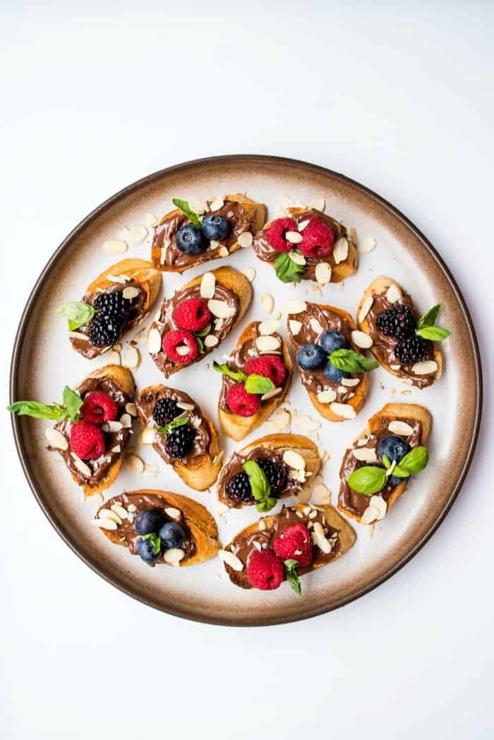 Tasty Nutella Berry Bruschetta Recipe