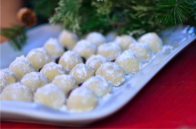 Recipe Chocolate Almond Snowball Cookies