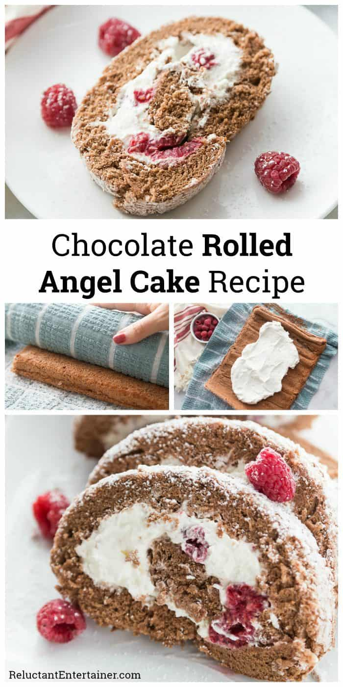 HOLIDAY Chocolate Rolled Angel Cake Recipe