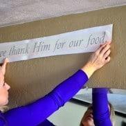 Stencil a prayer