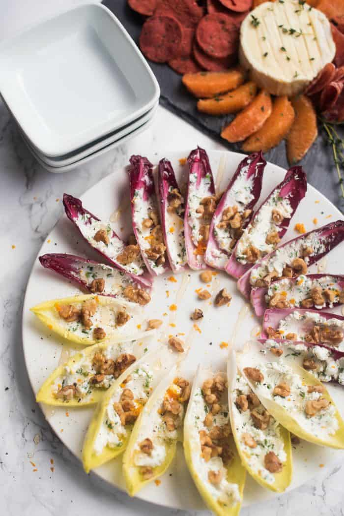 Creamy Stuffed Endive with Walnuts and Honey Recipe