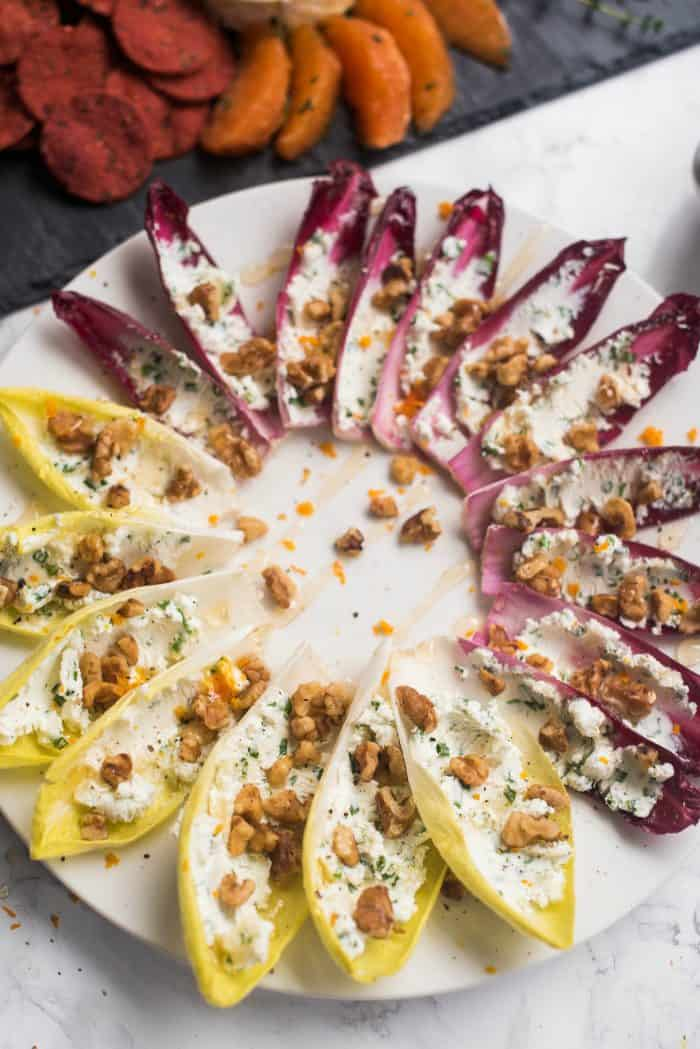 Stuffed Endive with Walnuts and Honey Recipe