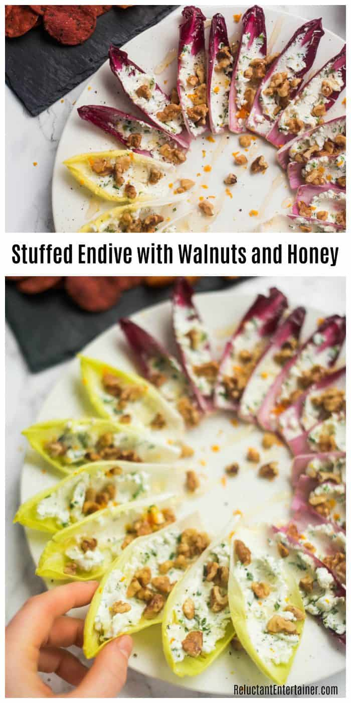 Stuffed Endive with Walnuts and Honey