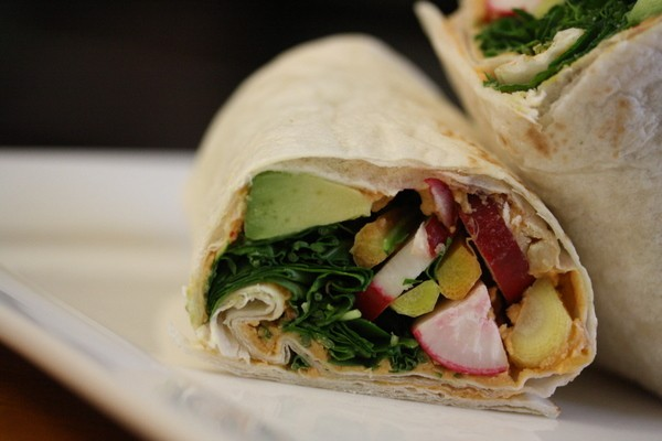 Healthy Shrimp Sandwich Wrap With Curry Yogurt & Spinach Recipe ...