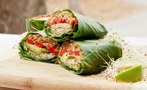 Healthy Shrimp Sandwich Wrap with Curry Yogurt Spinach from Cookin ...