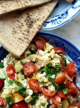 Outdoor Breakfast with Greek Scrambled Egg Pockets Recipe