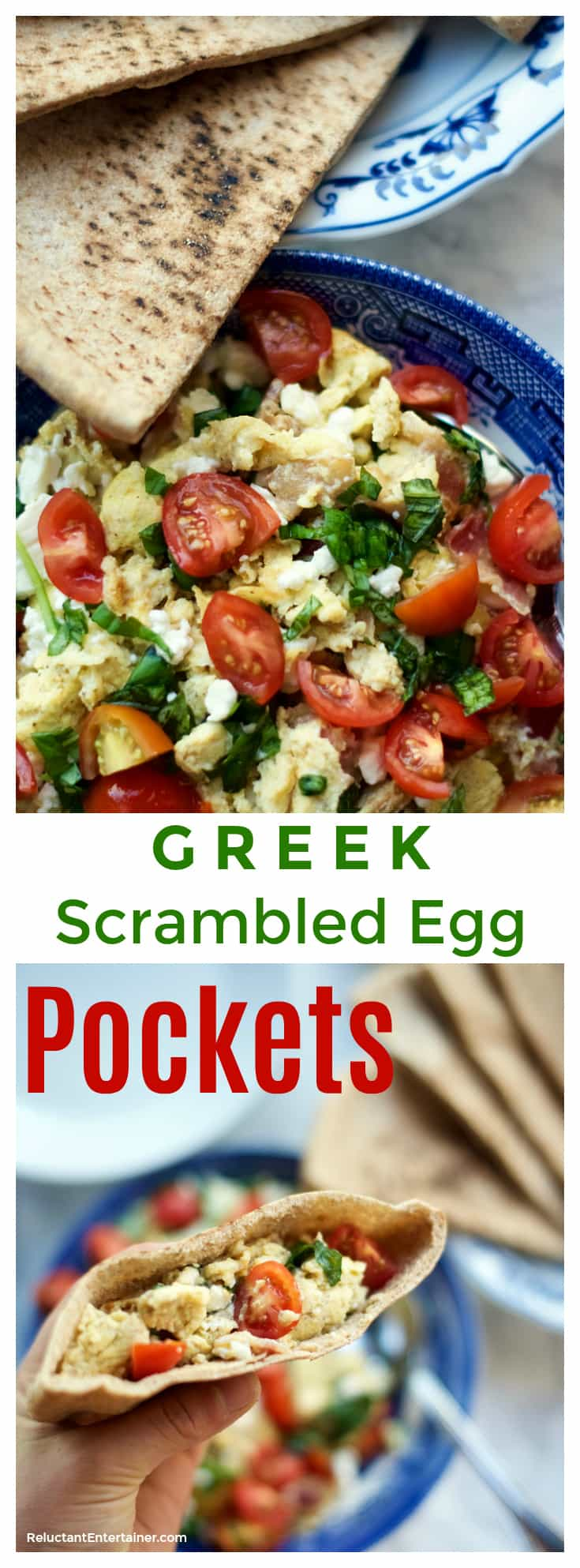Greek Scrambled Egg Pockets Recipe