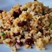 Fruity Nut Brown Rice Reluctant Entertainer