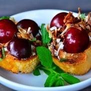 Cherry Crostini