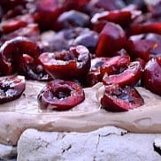 Cherry Nutella Pavlova
