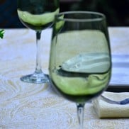 Olive Tint Wine Goblet | Reluctant Entertainer