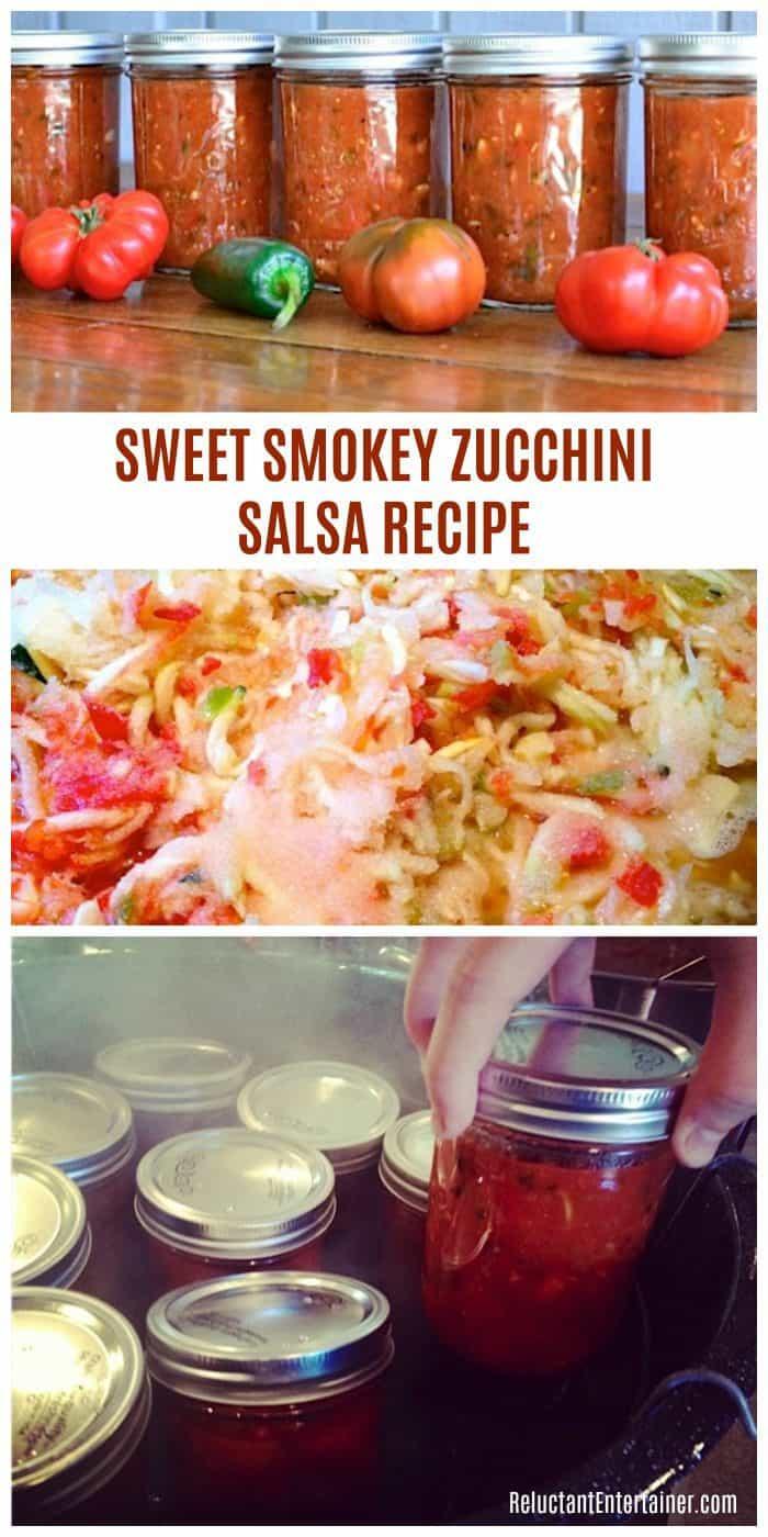 Sweet Smokey Zucchini Salsa Recipe 26 pints