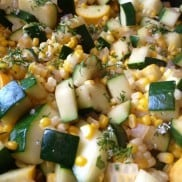Fresh Corn and Zucchini Saute | Reluctant Entertainer