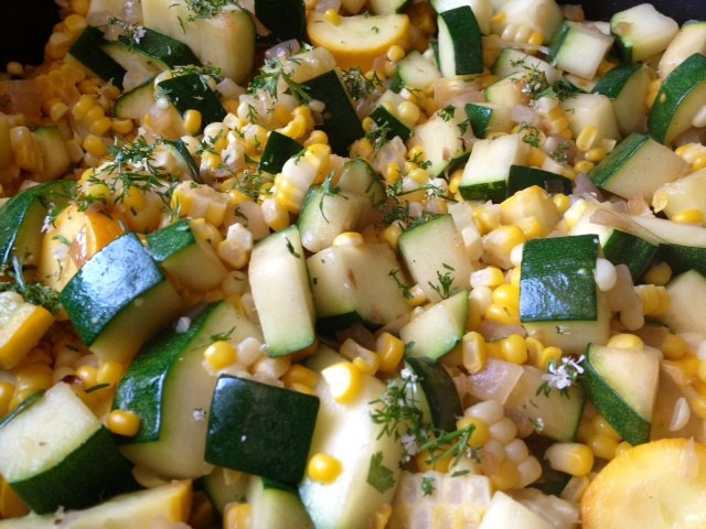 fresh corn zucchini and tomato salad corn cilantro cakes with roasted ...