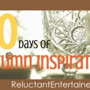 Autumn Inspiration | Reluctant Entertainer (LG)