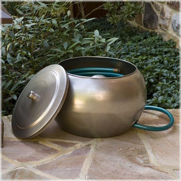Organize Your Garden With Moderne Steel Hose Holders