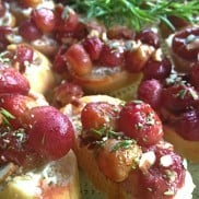 Roasted Grapes & Rosemary | Reluctant Entertainer