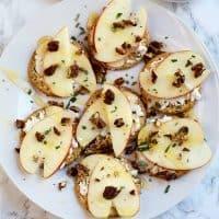Goat Cheese, Honey Crisp Apples, Honey, Rosemary Thins