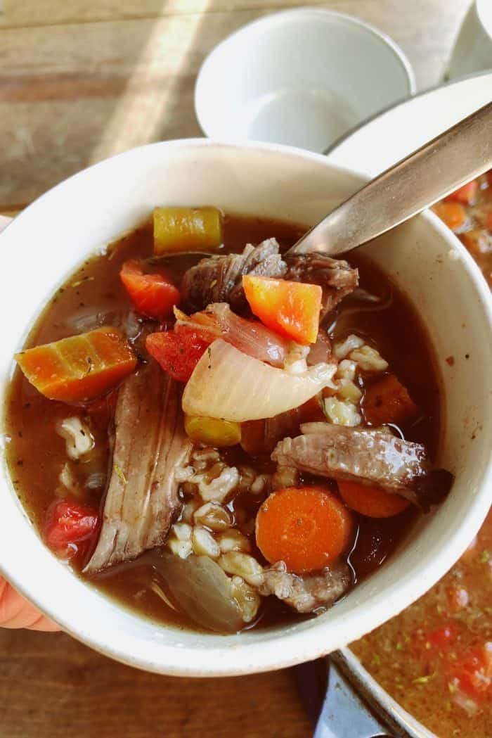 Easy Pot Roast Soup Recipe