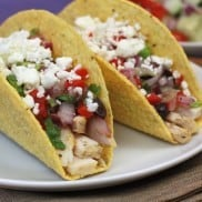 Greek Chicken Tacos | Reluctant Entertainer.com