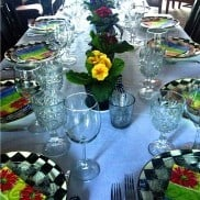 Spring Primrose Tabletop | reluctantentertainer.com