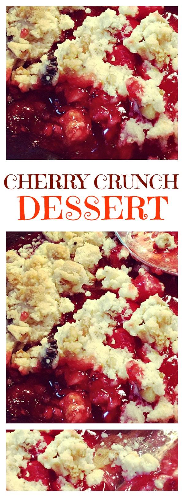 Cherry Crunch Dessert
