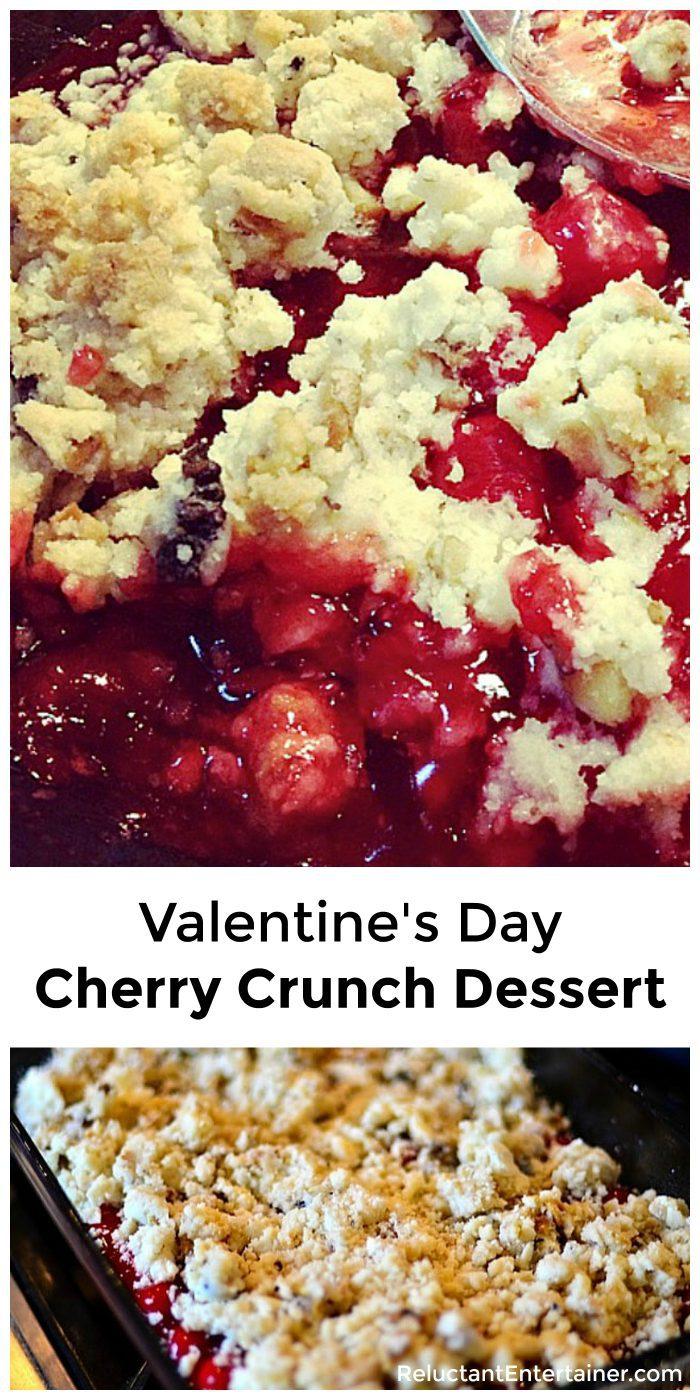 Valentine's Day Cherry Crunch Dessert Recipe