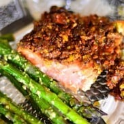 Pistachio Lime Baked Salmon | www.reluctantentertainer.com