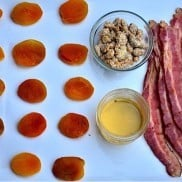 Bacon Wrapped Apricots with Honey and Rosemary