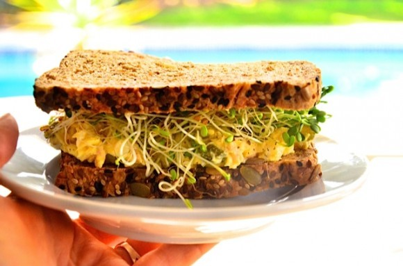 Egg Salad With Tuna And Sweet Pickles Sandwich Recipe