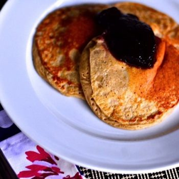 Pear Blender Pancakes with Farro and Oats