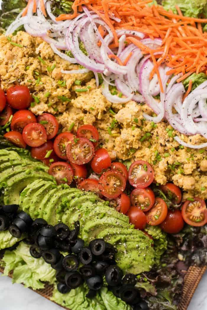 Vegan Cobb Salad presentation