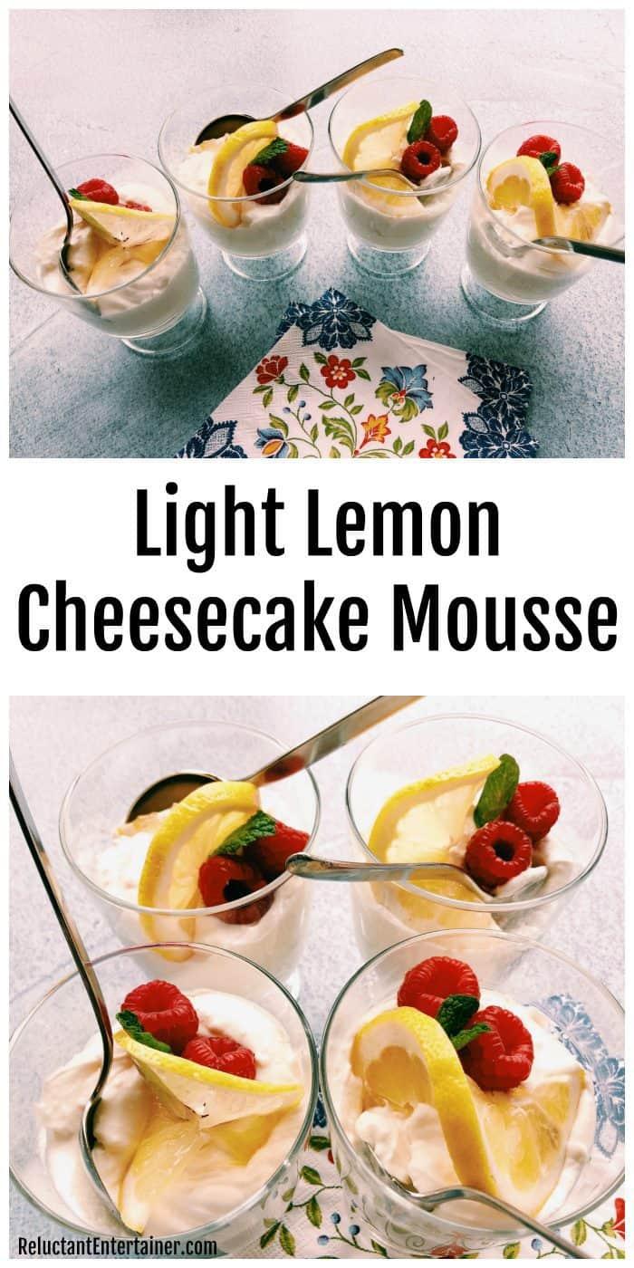 Light Lemon Cheesecake Mousse Recipe