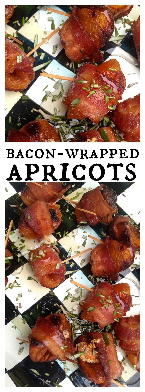 Bacon Wrapped Apricots with Honey & Rosemary Recipe
