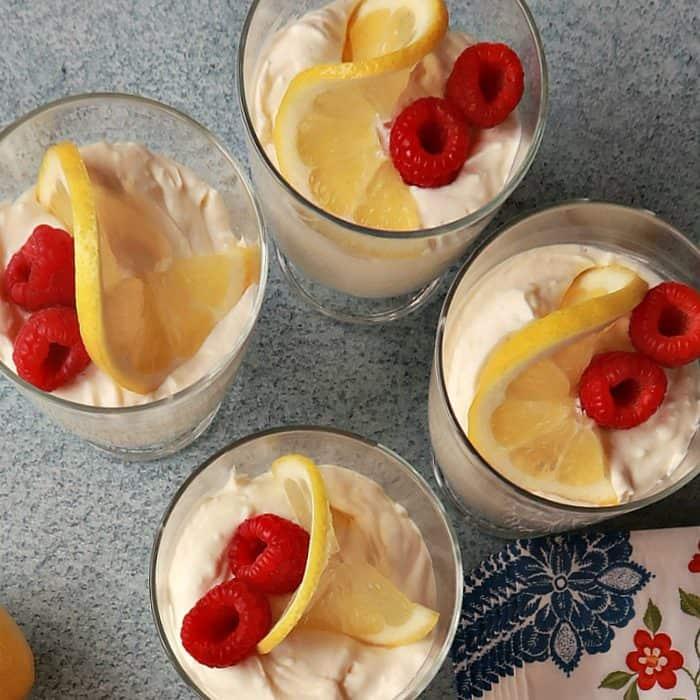 Easy Light Lemon Cheesecake Mousse