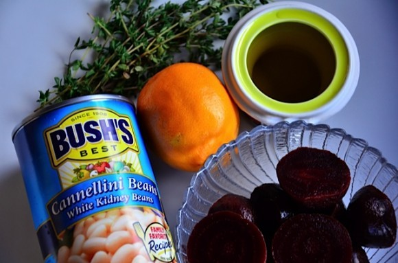 Bush's Cannellini Beans and Beet Hummus