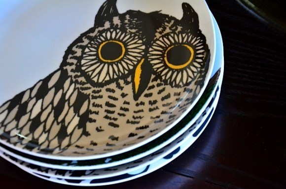 West Elm Owl Plates | Reluctant Entertainer