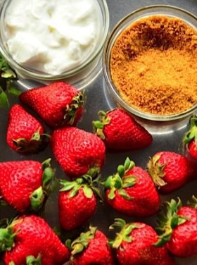 Strawberries, Greek Yogurt, Coconut Sugar | Reluctant Entertainer